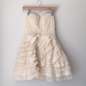 Modcloth Minuet Ivory Baklava Layered Dress